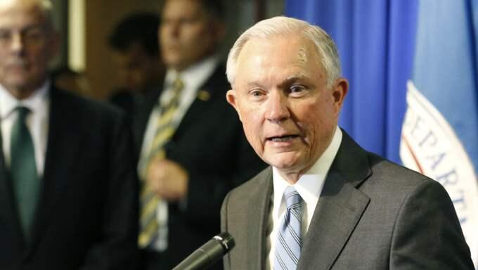 USA:s justitieminister Jeff Session. Foto: Ruben R. Ramirez / AP TT NYHETSBYRÅN