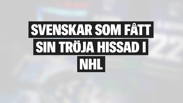 Här är svenskarna som fått sin tröja hissad i NHL