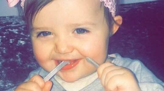 Lilla Connie gick bort den 6 mars, bara 18 månader gammal. Foto: Facebook