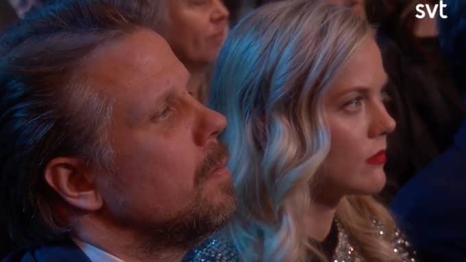 """Filip Hammars flickvän Agnes Lindström Bolmgren har en roll i tv-duons kommande film """"Tårtgeneralen"""". Foto: SVT"""