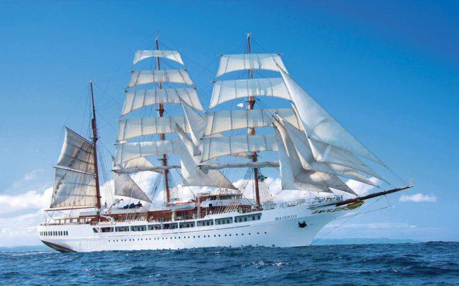 <span>Seacloud. Man måste inte kunna ett dugg om segling för att uppskatta en kryssning med det här lyxiga skeppet.</span>