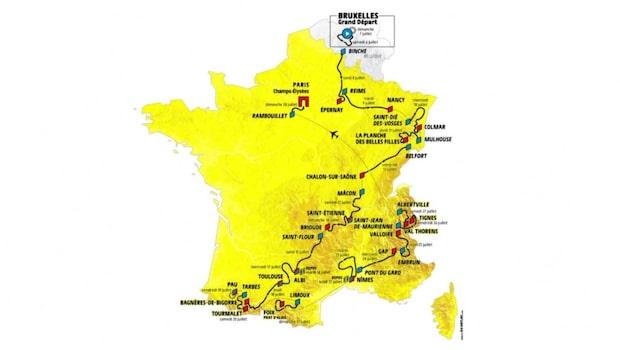 Så körs Tour de France 2019