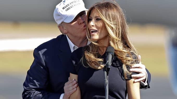 Melania och Donald Trump. Foto: JOHN BAZEMORE / AP TT NYHETSBYRÅN