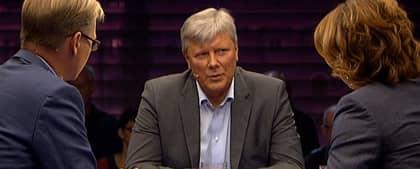 Lars Ohly i SVT-studion.