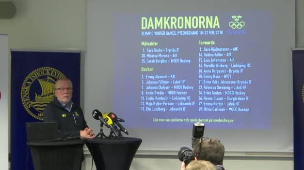 Det var ett väntat svenskt OS-lag som Leif Boork tog ut. Foto: Expressen TV.
