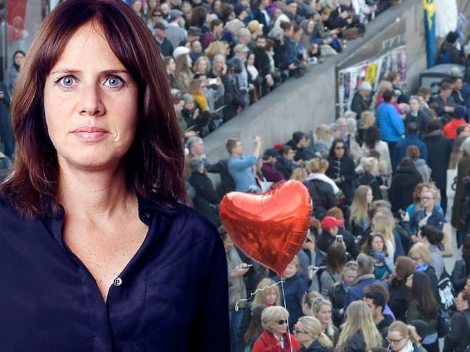 Anna Friberg skriver om manifestationen på Sergels torg under söndagen.
