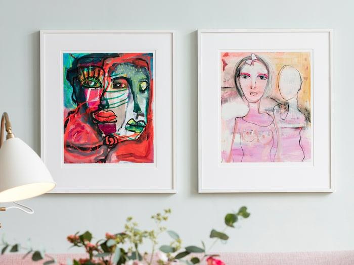 """""""Passion"""" och """"Kärlekens dans"""" av Birgitte Söndergaard."""