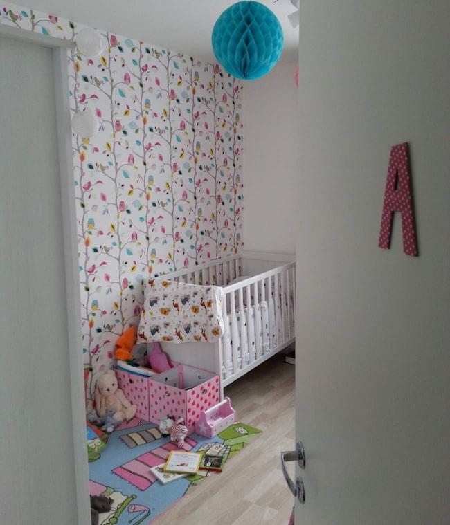 I ettåringen Amandas rum är alla färger tillåtna.