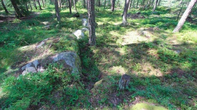 Platsen där kroppen hittades. Foto: POLISEN