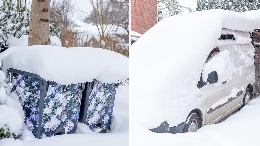 Det kalla vädret och snöfallet har orsakat kaos i trafiken