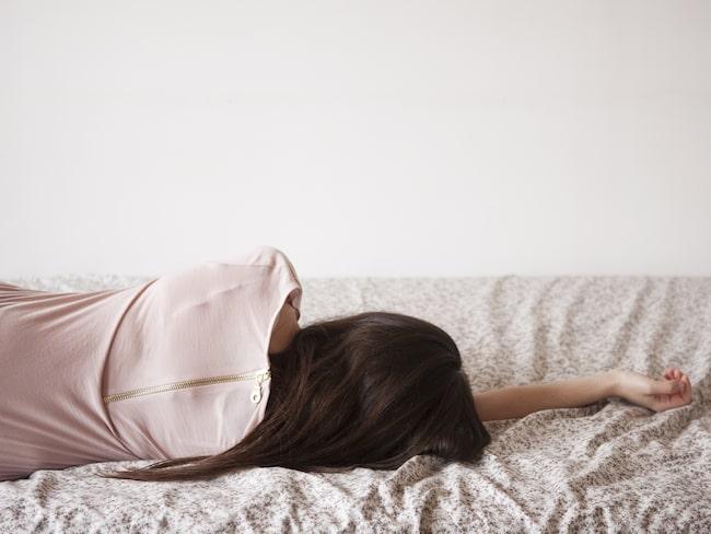 Symtom som kan visa på depression är bristande intresse för saker man annars tycker om, sömnstörningar och en känsla av hopplöshet.
