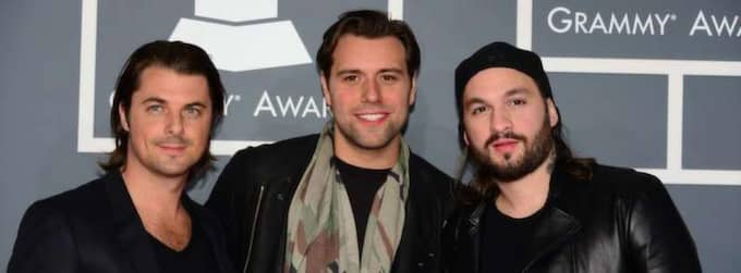 Swedish House Mafia på röda mattan inför årets Grammy Awards i Los Angeles. Foto: AP