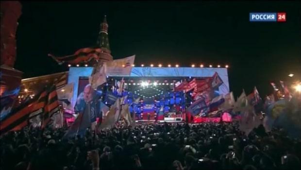Putin vinner – mötte jublande folkmassa