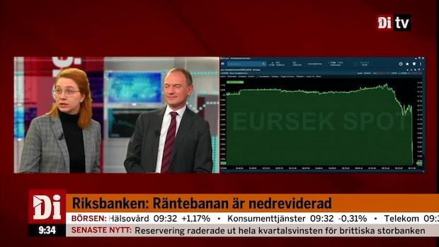 Riksbanken: Räntan oförändrad - nedreviderad räntebana
