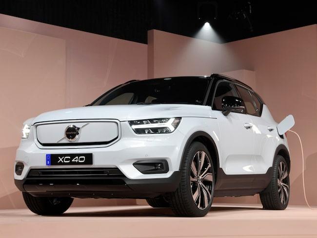 Volvo XC40 Recharge, den svenska biltillverkarens första elbil.