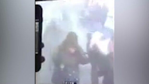 Övervakningsfilm: Här inträffar explosionen