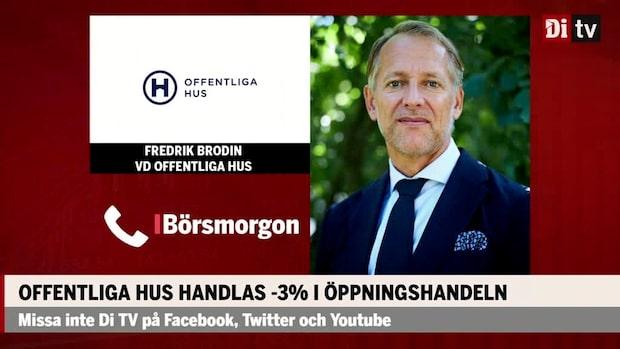 """Fredrik Brodin vd Offentliga Hus om börsnoteringen: """"Vi ska fortsätta växa"""""""