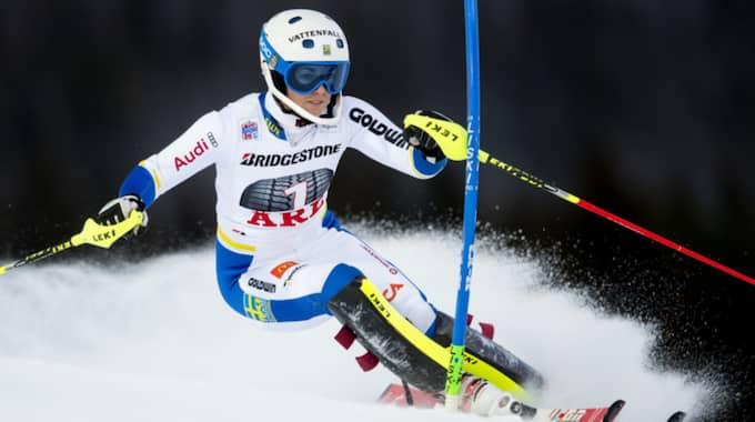 Svenska alpinstjärnan Maria Pietilä Holmner. Foto: Daniel Stiller / BILDBYRÅN
