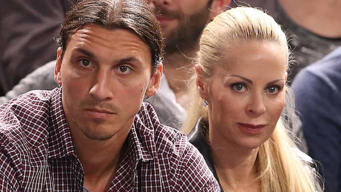 Helena Seger tillsammans med Zlatan Ibrahimovic. Foto: FAME FLYNET FRANCE / STELLA PICTURES / FAME FLYNET SWEDEN