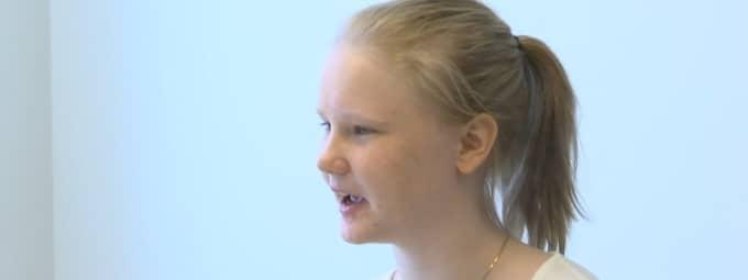 En mycket glad Vilma Gustavson, 15.