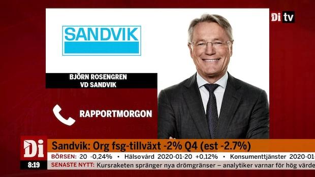 """Björn Rosengren: """"Otroligt bra siffror, tycker jag"""""""