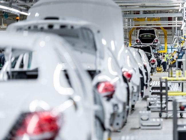 Mercedes E-klassfabrik.