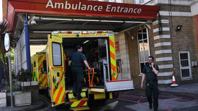 Sjukvården i Storbritannien har också drabbats av attacken. Foto: Andy Rain / Epa / TT