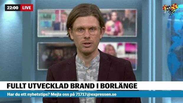 Fullt utvecklad brand i Borlänge – två skadade