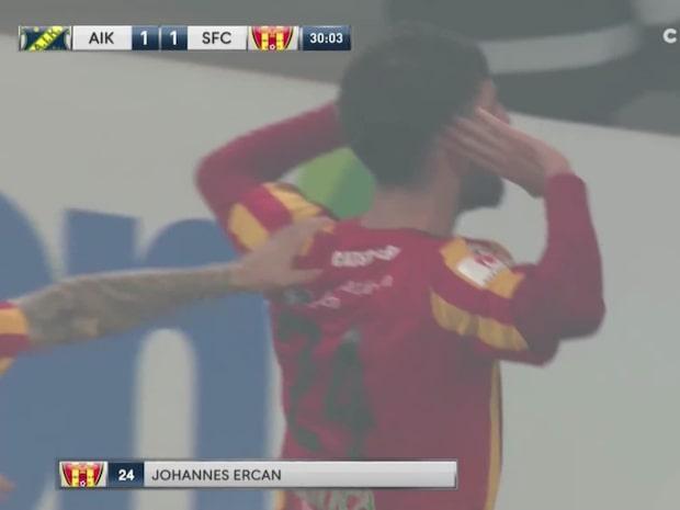 Ercan hånar AIK-klacken efter målet