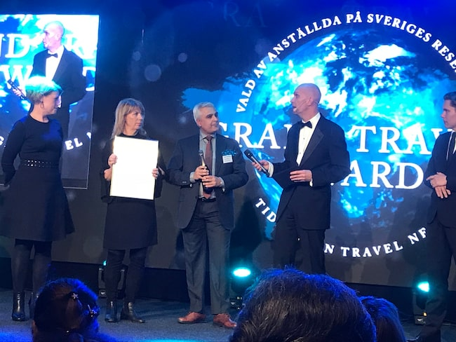 Grand Travel Award hölls på At Six. Hotellet tillhör Nordic Choice Hotels, som kammade hem Bästa hotellkedja Sverige och Årets hållbarhetspris.