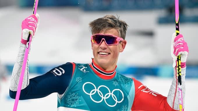 Johannes Hösflot Kläbo vann OS-sprinten. Foto: FILIP SINGER / EPA / TT / EPA TT NYHETSBYRÅN