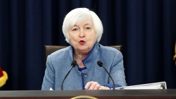 Fed-chefen Janet Yellen. Foto: Alex Brandon/AP/TT
