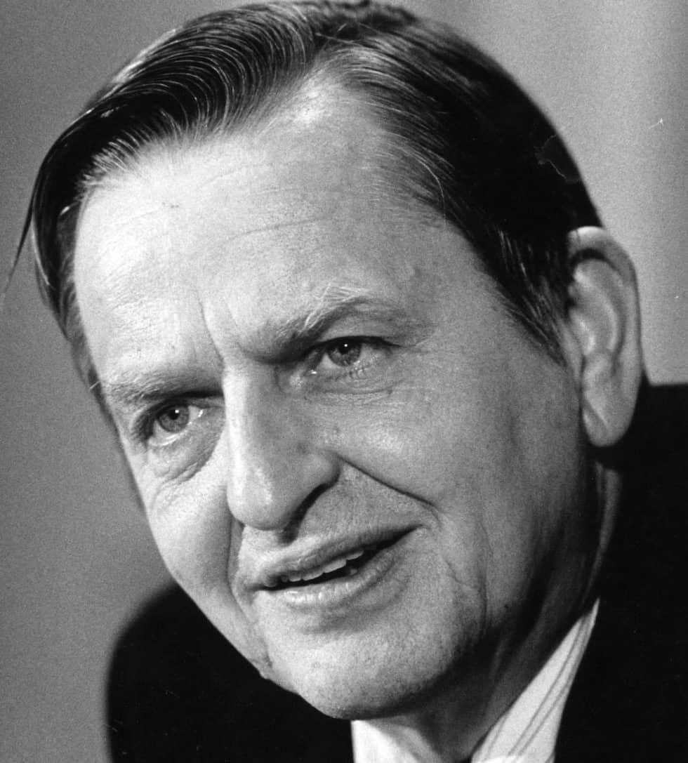 Olof Palme sköts till döds den 28 februari 1986. Mordet har fortfarande inte lösts. Foto: Göran Ärnbäck