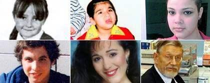 De här personerna har dött av smittan. Fr vänster: Chloe Buckley, 6, Asmaa Hussain, 9, Adela Chevalier, 20, Zachary wilson, 19, Jusy Trunnell, 33, Michael Day, 64.