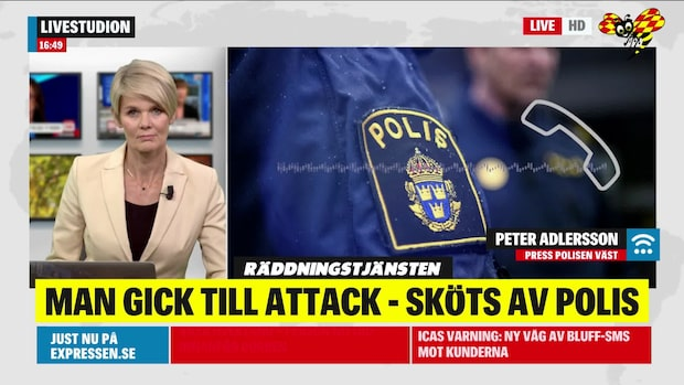 Man till attack mot ambulanspersonal