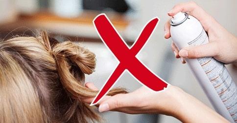 färgad hårspray tips