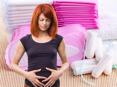 extrem mensvärk gravid