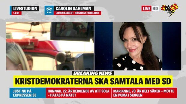 Carolin Dahlman om att KD ska samtala med SD