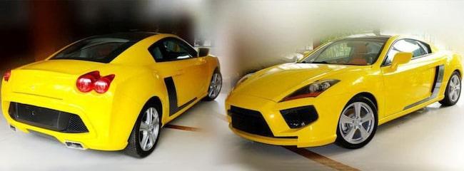 HOPPLOCK. Tong Jian S11 Coupé lånar sin design från flera kända sportbilar från väst.