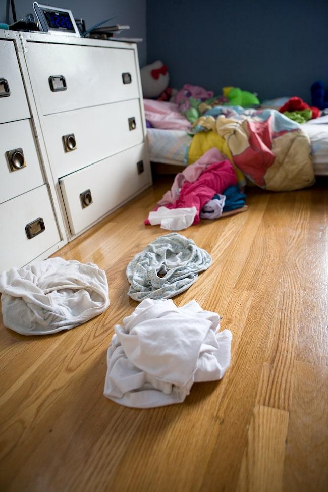 Lämna aldrig smutstvätt framme i sovrummet!