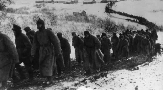 Ockupation. Ryska soldater som tagits till fånga av tyskarna under andra världskriget. Foto: Pressens bild/Scanpix Foto: Scanpix Sweden