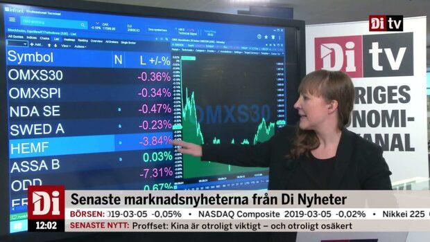 Di Nyheter 12.00: Hemfosa ner efter Kåpans aktieförsäljning