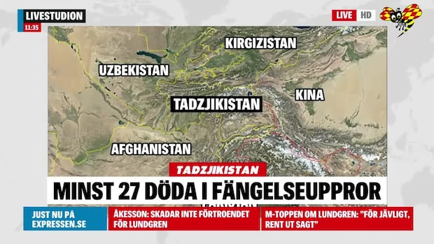 Många döda i fängelseupplopp i Tadzjikistan