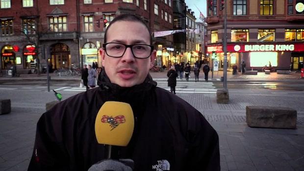 Öde timmar innan Danmark stänger gränsen
