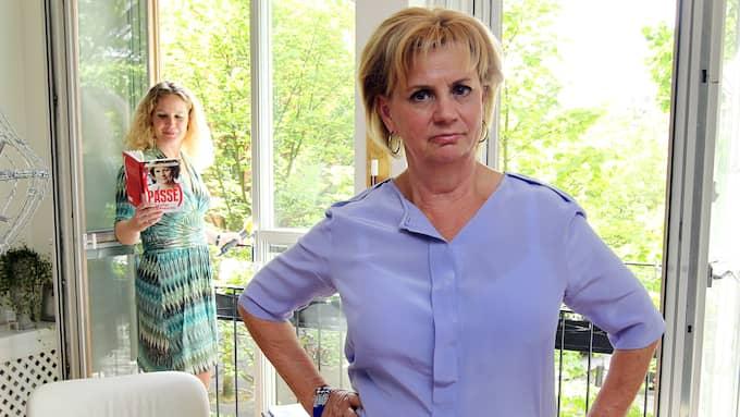 Marianne Rundström berättar för Expressens Karin Sörbring att hon har sagt upp sig efter nästan 22 år på SVT. Foto: CORNELIA NORDSTRÖM