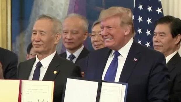 Kina åtar sig köpa varor från USA för 200 miljarder dollar i nya avtalet