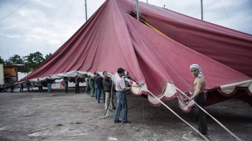 En timme efter föreställningens slut är tältet nedpackat. Foto: Meli Petersson Ellafi