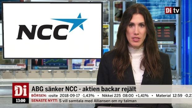 Di Nyheter 13.00 18 sep - ABG sänker NCC - aktien backar