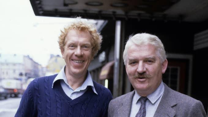 Hasse Alfredson och Tage Danielsson vid Göta Lejon 1985. Foto: / STELLA PICTURES REPORTAGEFOTO