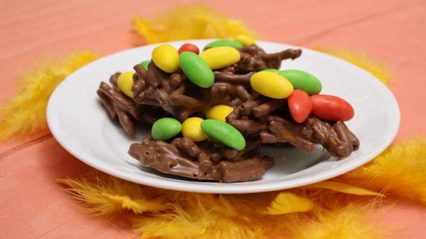 Smarriga chokladfågelbon